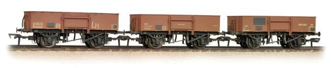 Bachmann 38-340 Triple Pack 13t High Sided Steel Open Wagons BR Bauxite