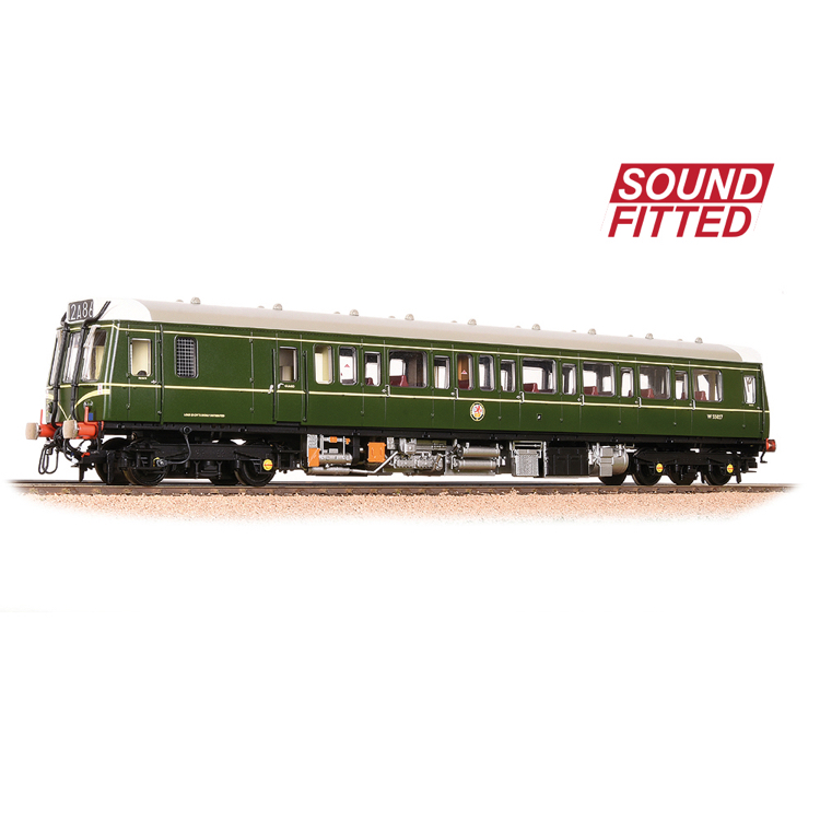 Bachmann 35-525SF Class 121 Single-Car DMU BR Green (Speed Whiskers)