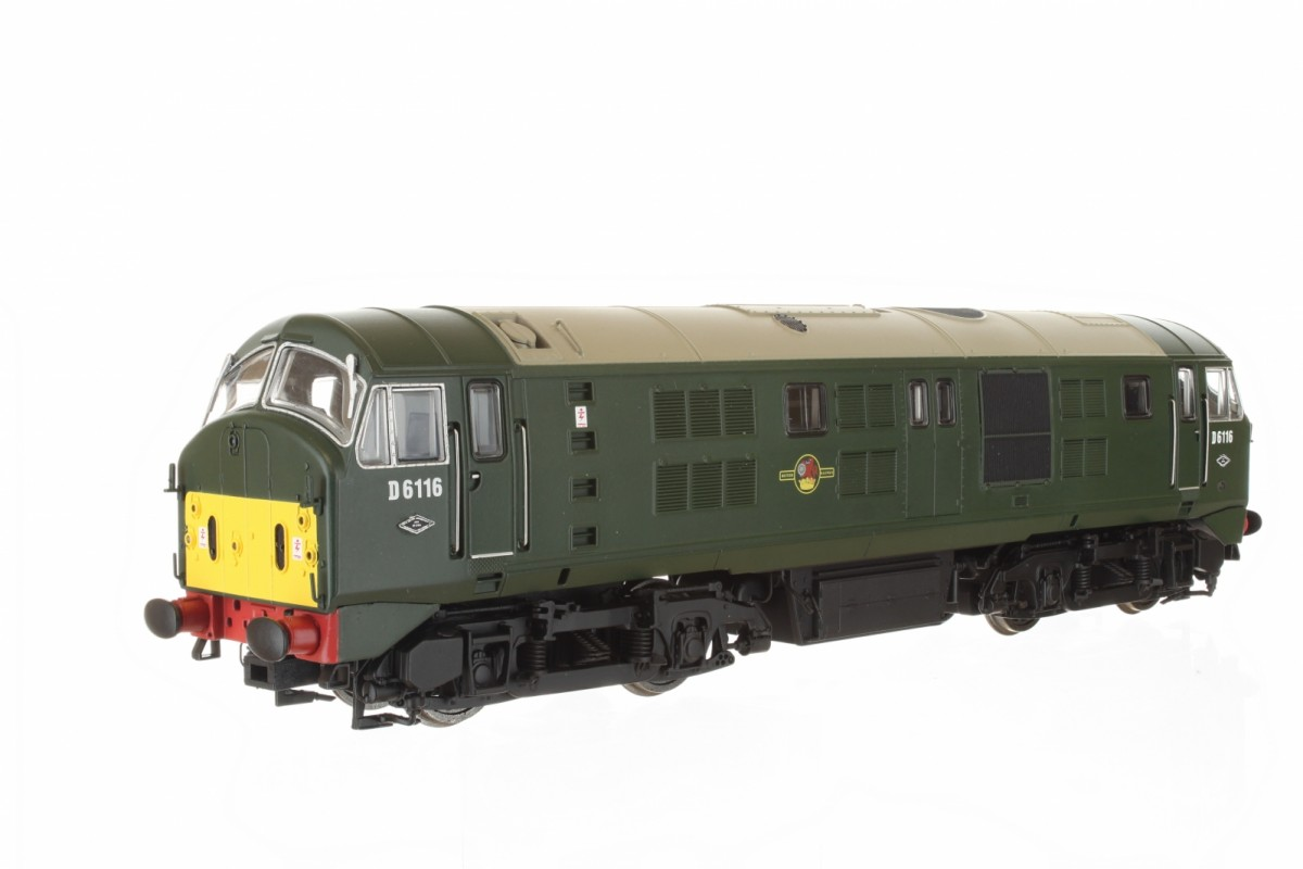 Dapol 4D-025-003 Class 21 D6116 BR Green with Small Yellow Panel