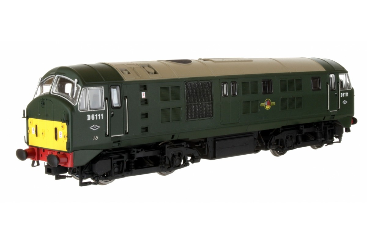 Dapol 4D-025-004 Class 21 D6111 BR Green with Small Yellow Panel