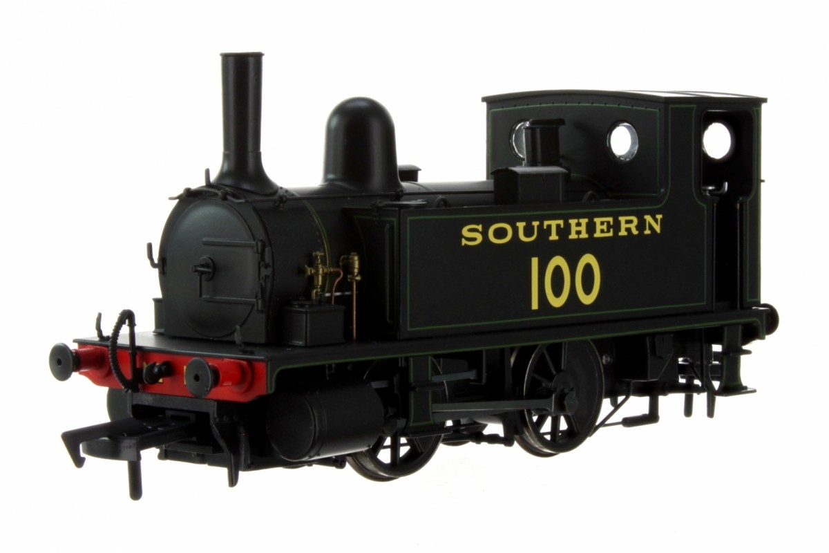 Dapol 4S-018-008 OO GAUGE LSWR CLASS B4 SOUTHERN BLACK (LINED GREEN) 0-4-0 TANK LOCOMOTIVE NO.100