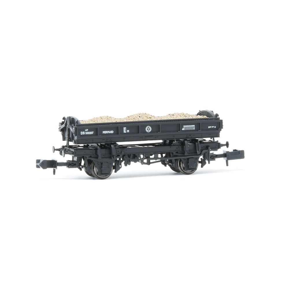 EFE Rail E87512 14T 'Mermaid' Side Tipping Ballast Wagon BR Departmental Black