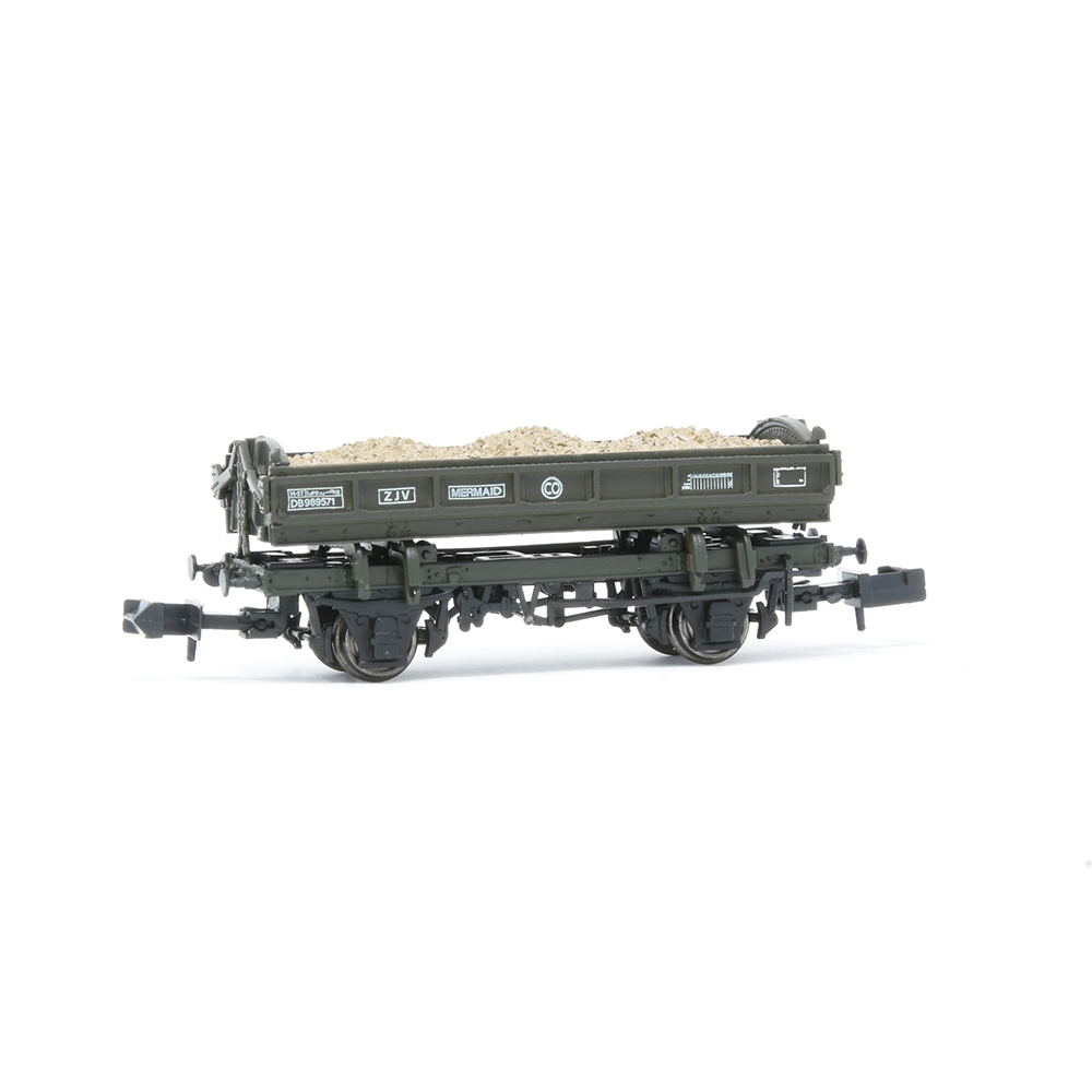 EFE Rail E87513 14T 'Mermaid' Side Tipping Ballast Wagon BR Departmental Olive Green