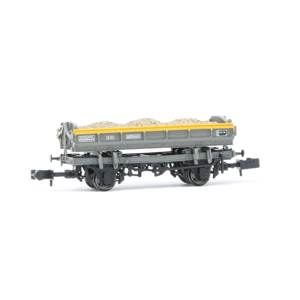 EFE Rail E87514 14T 'Mermaid' Side Tipping Ballast Wagon BR Engineers Grey & Yellow