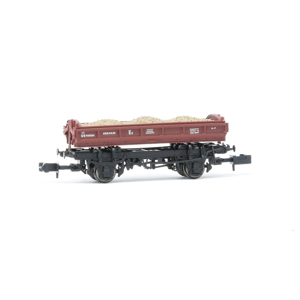 EFE Rail E87515 14T 'Mermaid' Side Tipping Ballast Wagon BR Departmental Gulf Red