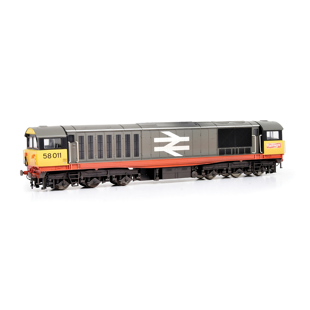 EFE Rail E84005 Class 58 58011 BR Railfreight (Red Stripe) [W - faded paint and logos]
