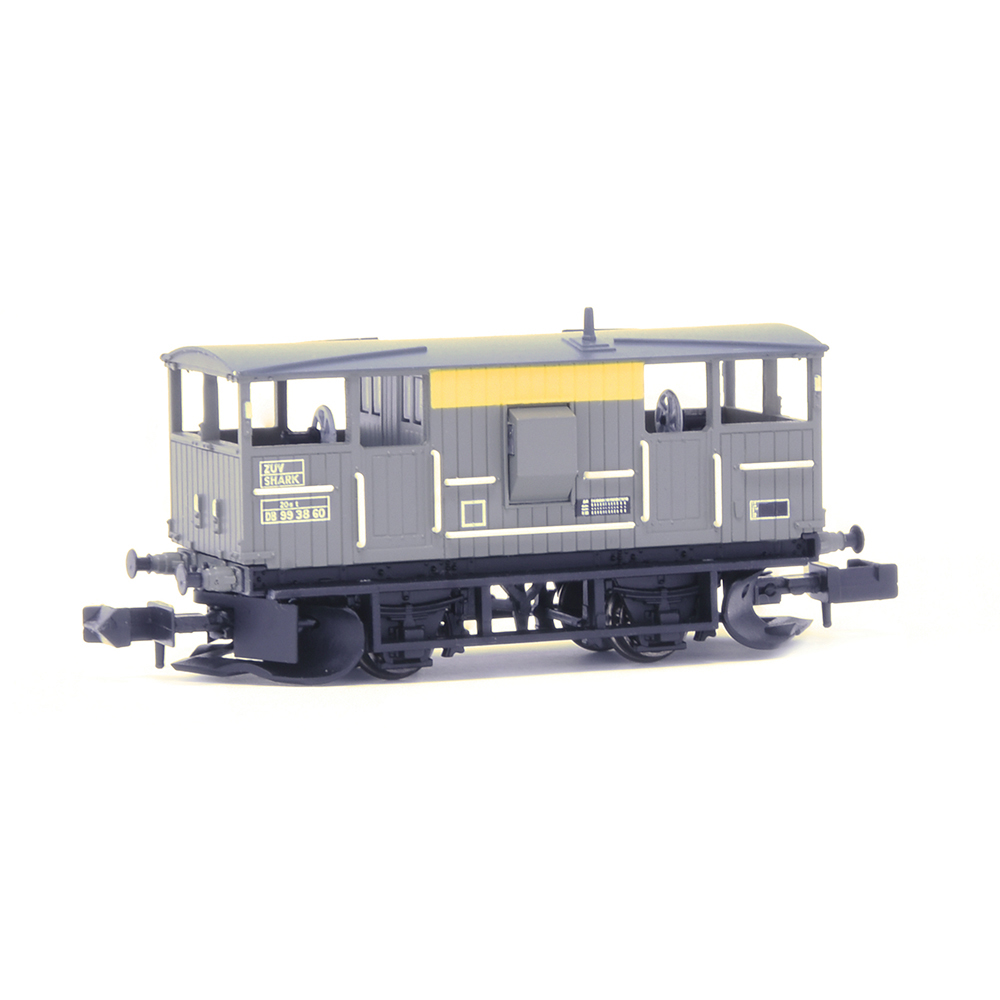 EFE Rail E87518 BR 20T 'Shark' Ballast Plough Brake Van BR Engineers Grey & Yellow
