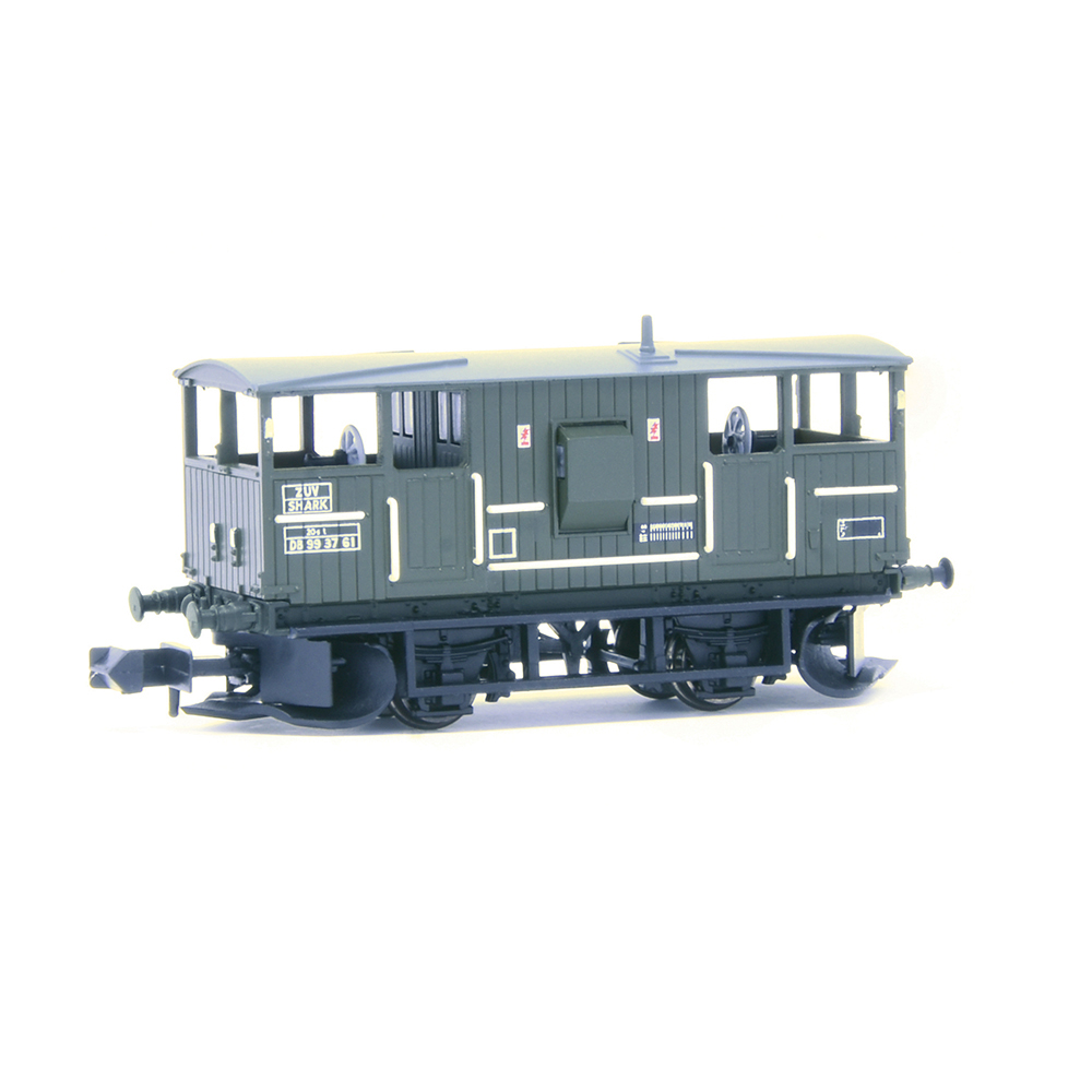 EFE Rail E87519 BR 20T 'Shark' Ballast Plough Brake Van BR Departmental Olive Green