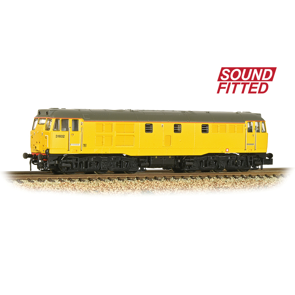 Graham Farish 371-137SF Class 31/6 Refurbished 31602 Network Rail Yellow - SOUND FITTED