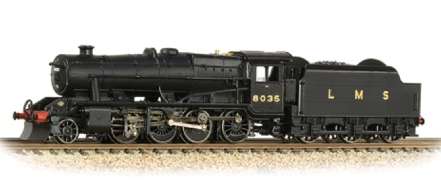 Graham Farish 372-161 Stanier Class 8F LMS Black 2-8-0 Steam Locomotive No.8035