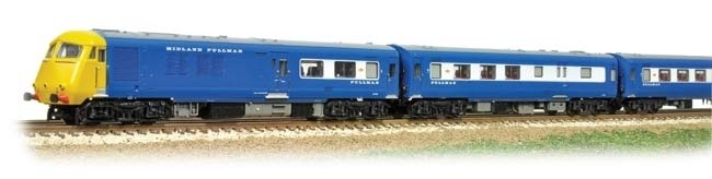 Graham Farish 371-741 Class 251 Blue Pullman 6 car Midland set in Nanking blue with Yellow Ends