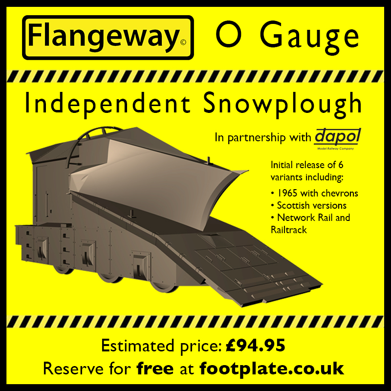 O-IS002 Independent Snowplough - 1965 version with yellow chevrons - Reservation