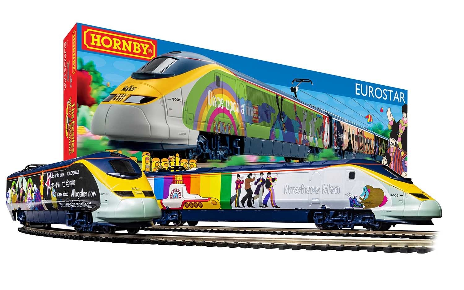 Hornby R1253M The Beatles 'Yellow Submarine' Eurostar Train Set
