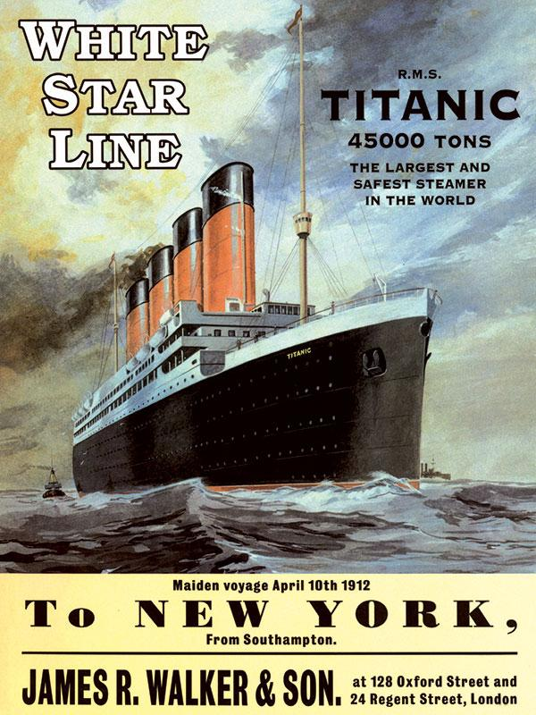 Titanic - To New York Large Metal Sign