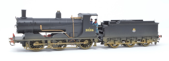 Hornby R3304 0-6-0 Drummond 700 Class '30316' BR Black Weathered - DCC Sound