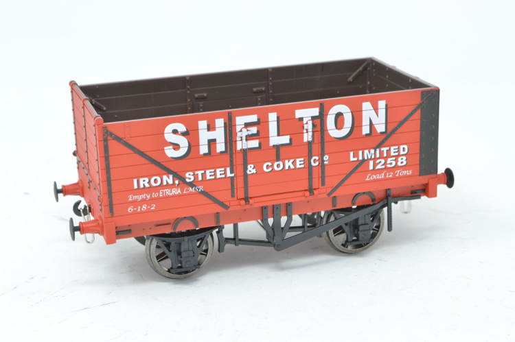 Dapol FPOO2 Exclusive 7 Plank Wagon - Shelton Iron, Steel & Coke Co. Limited no.1258